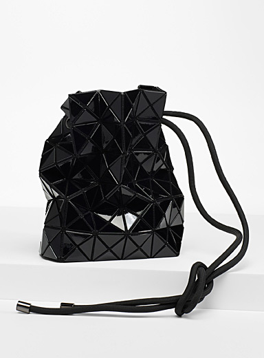 Bao Bao Issey Miyake Black Wring bucket bag for women