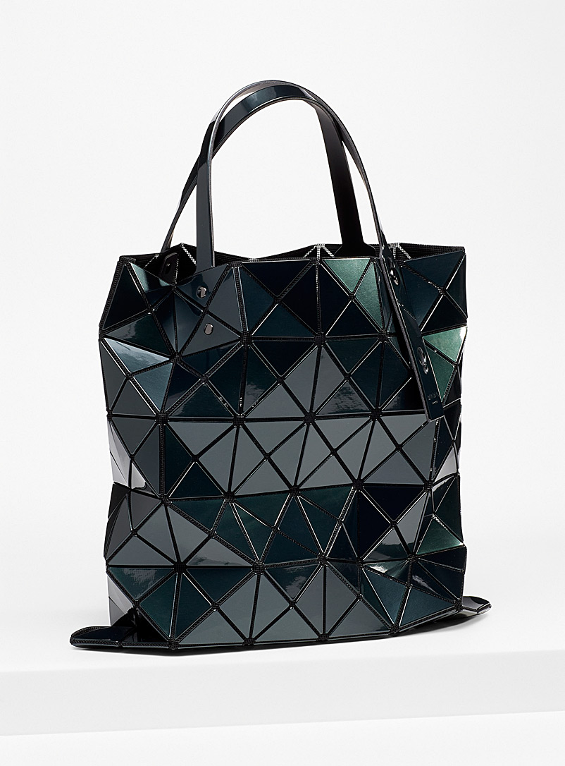 Bao Bao Issey Miyake Mossy Green Metallic Lucent tote for women
