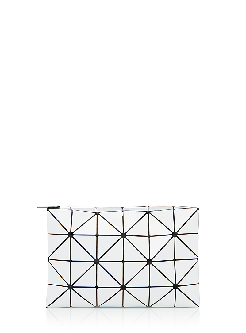 Bao Bao Issey Miyake White Lucent clutch for women