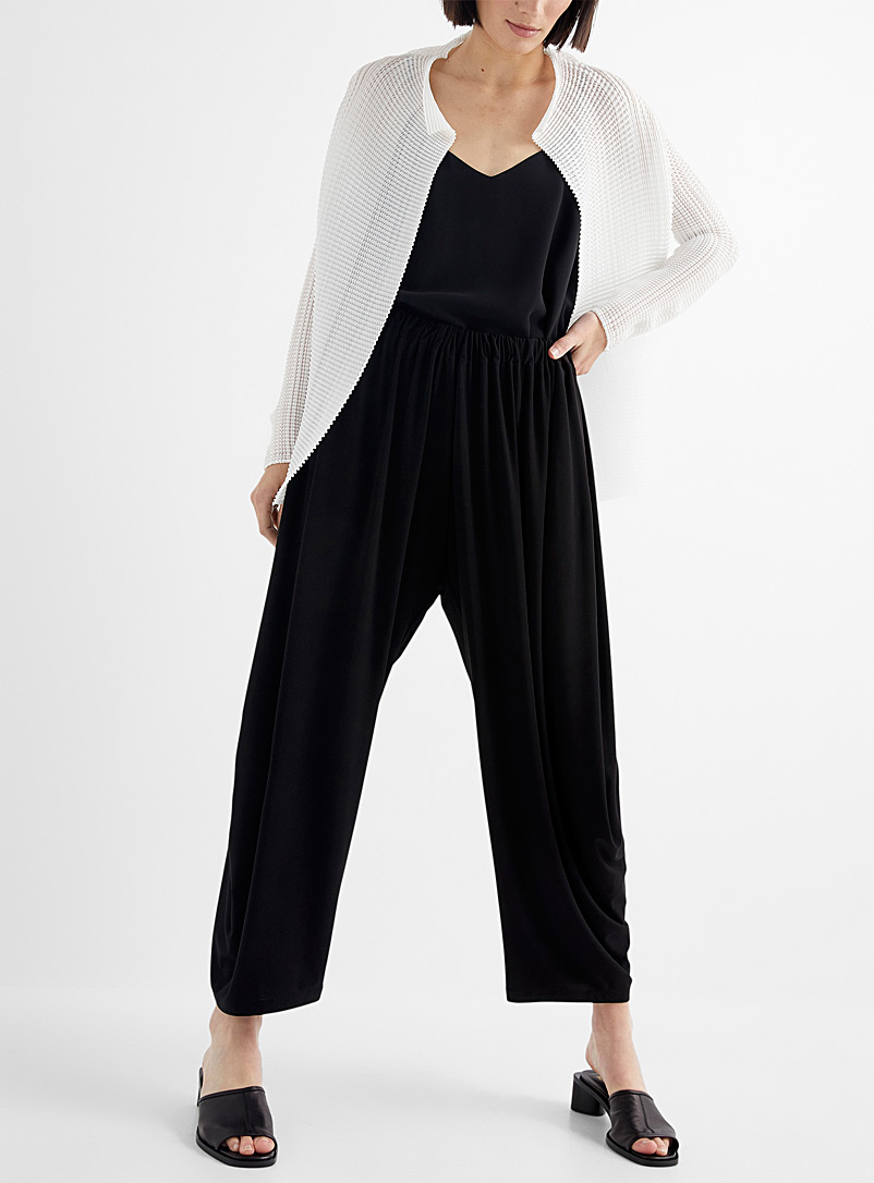 Issey Miyake White Wooly Pleats open cardigan for women