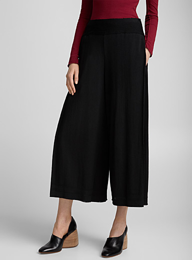 Stretch knit loose pant