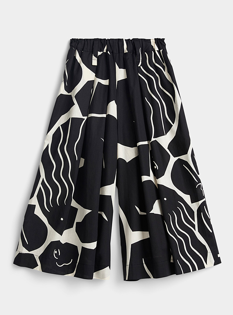 Issey Miyake Black Cuddle geo print pant for women