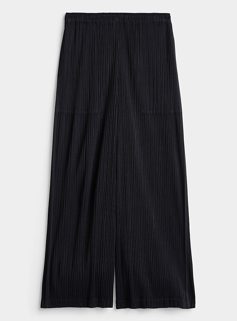 Issey Miyake Black Accordion-pleat pant for women