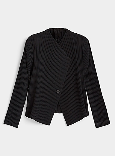 Issey Miyake Black Techno pleat blazer for women