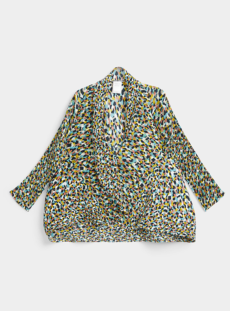Colorful Bits Pleats jacket