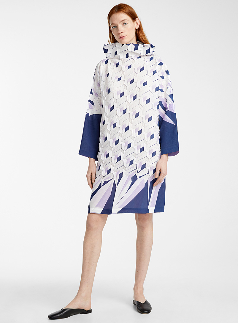 Issey Miyake Marine Blue Petit Four tunic for women