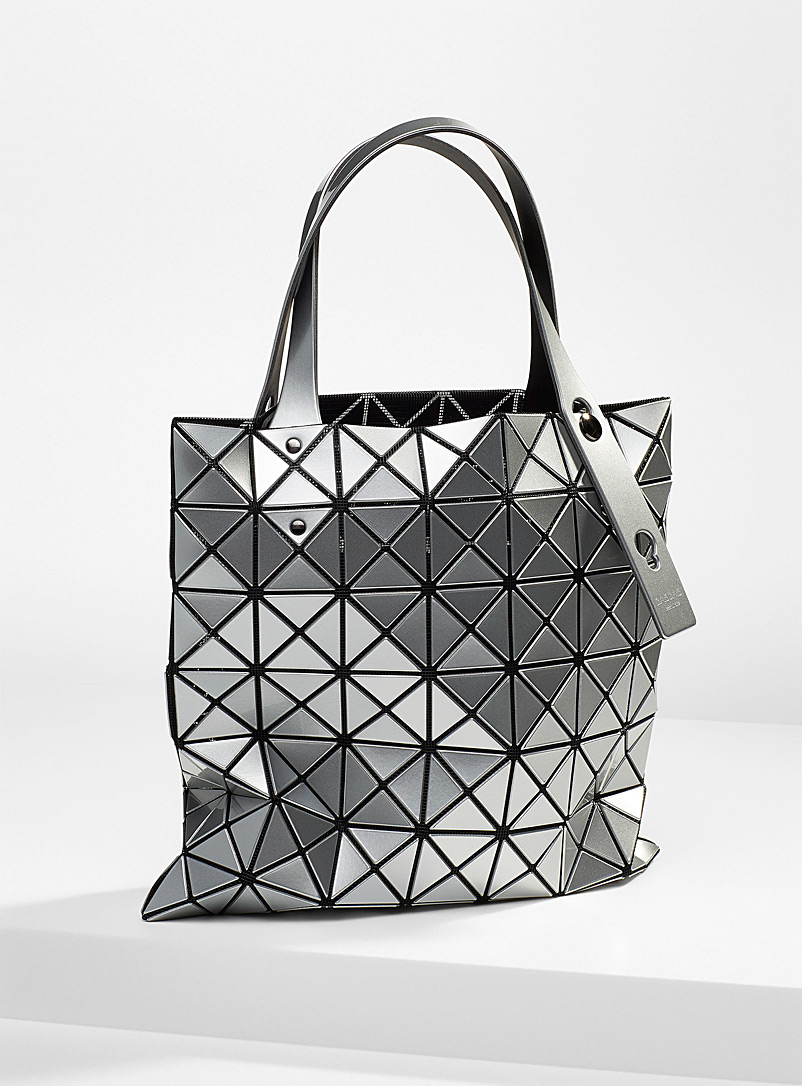 Bao Bao Issey Miyake Silver Prism square tote for women