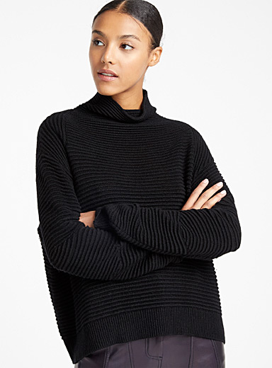 Embossed sweater