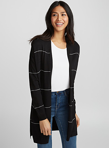 Long thin stripe cardigan