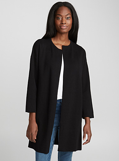 Oversized open cardigan