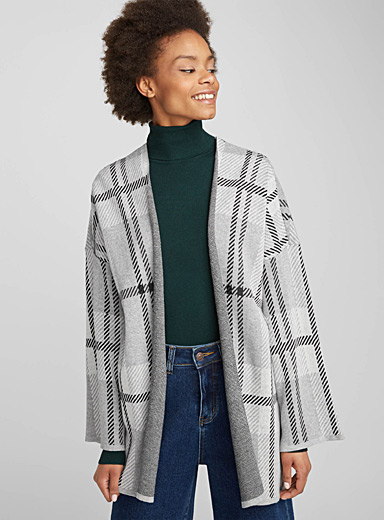 Mega check cardigan