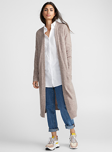 Le cardigan mohair ultralong