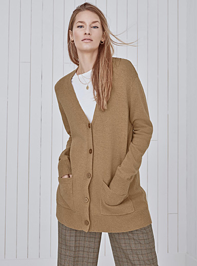Le cardigan col V ample
