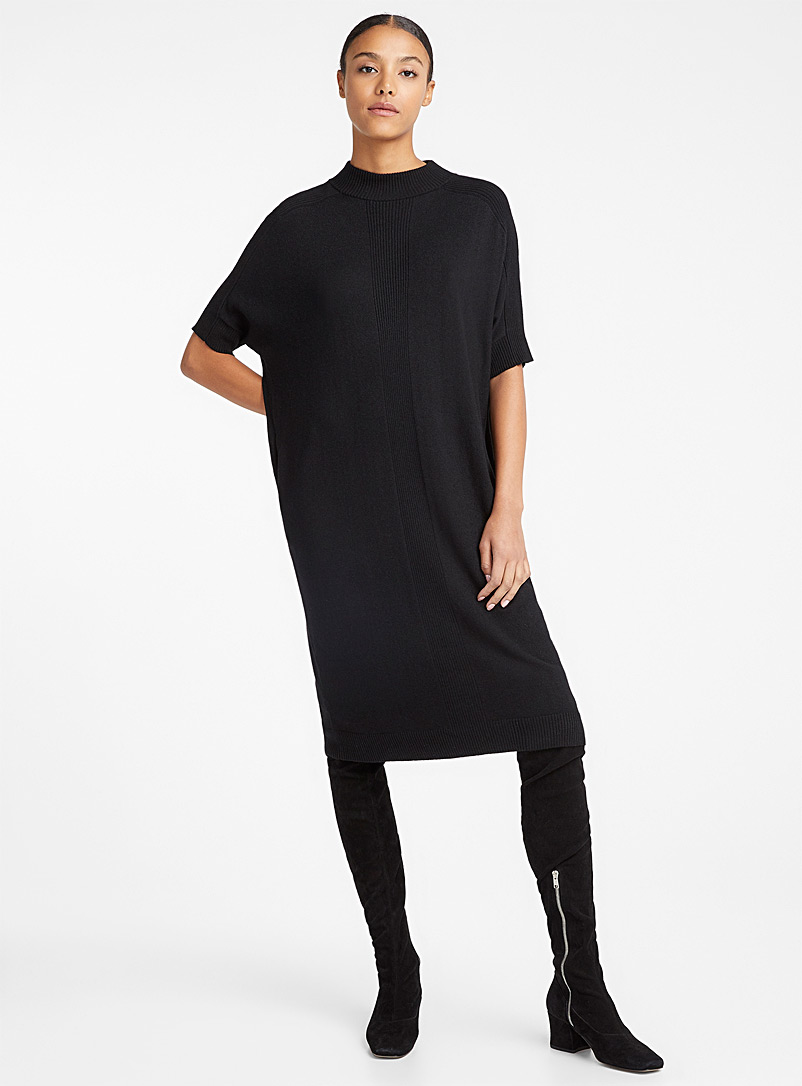Denis Gagnon + édito Black Merino sweater dress for women