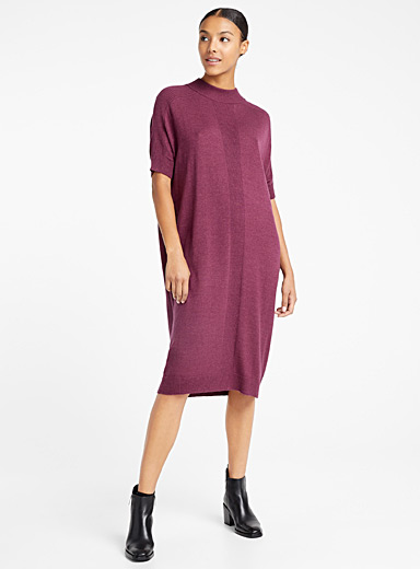 Denis Gagnon + Édito Red Merino sweater dress for women
