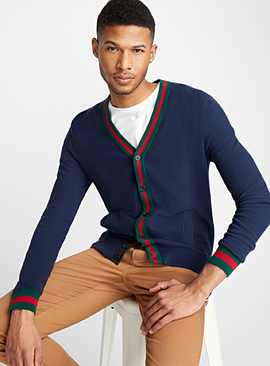 Preppy accent cardigan
