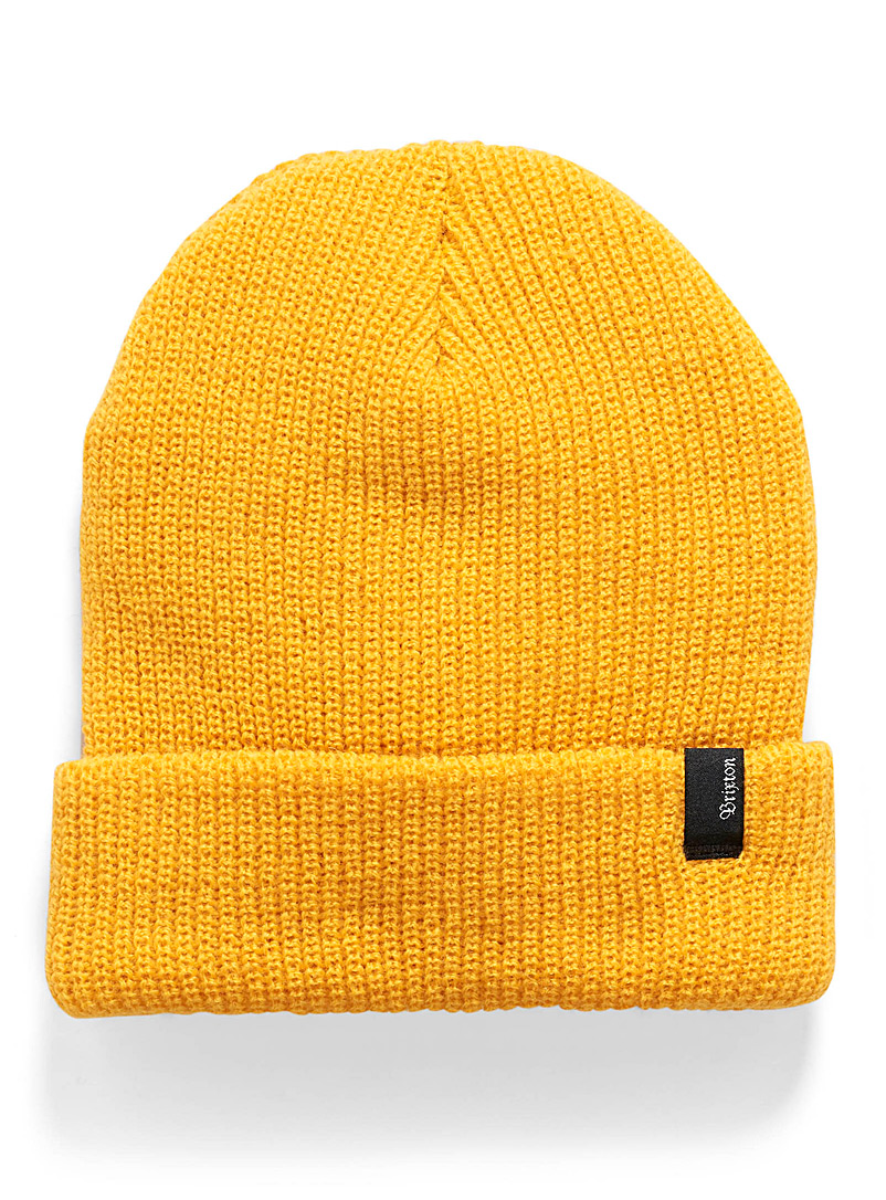 Heist logo emblem cuffed tuque - Tuques - Dark Yellow
