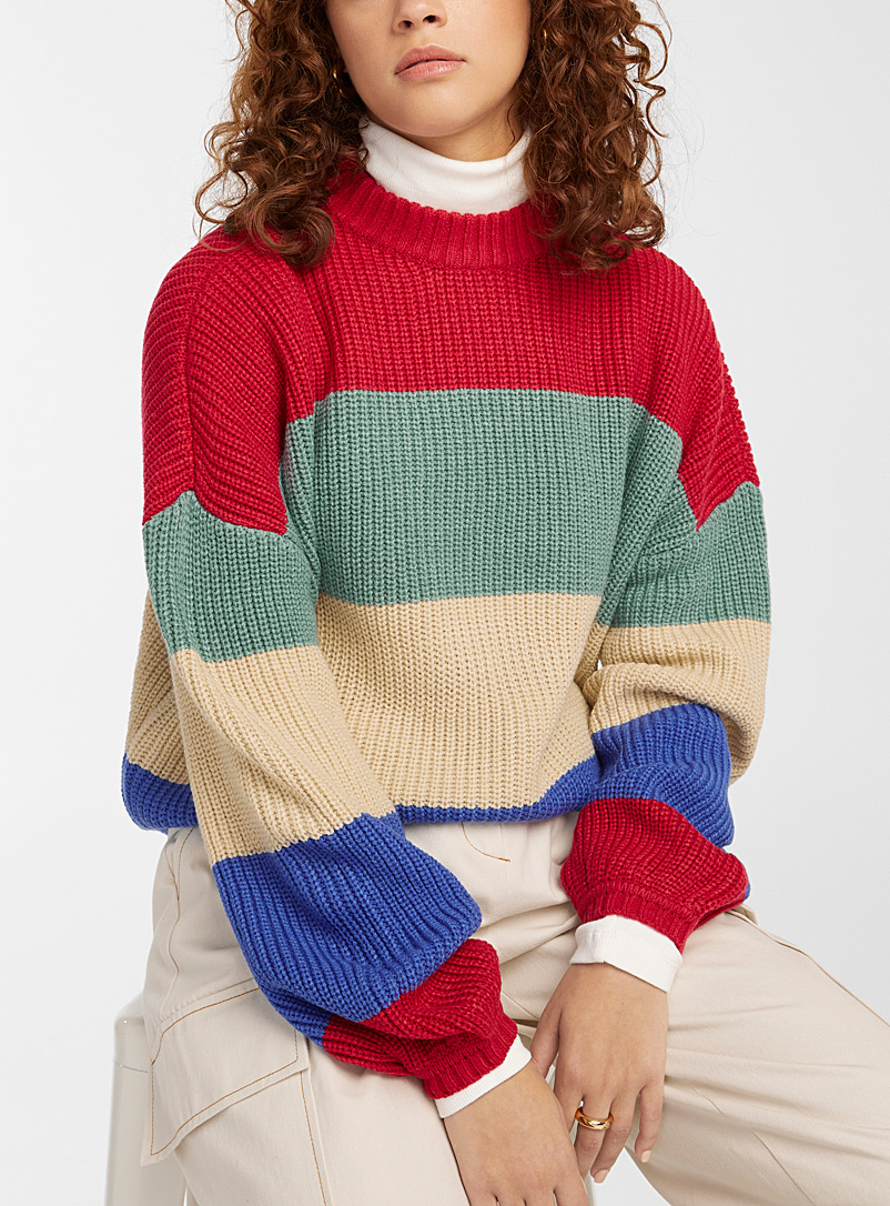 Brixton Assorted Coloured-stripe sweater for women