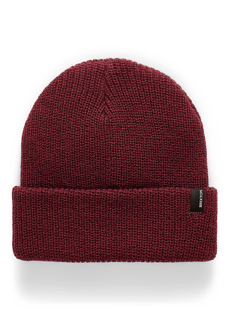 Brixton Black Heist ribbed tuque for men