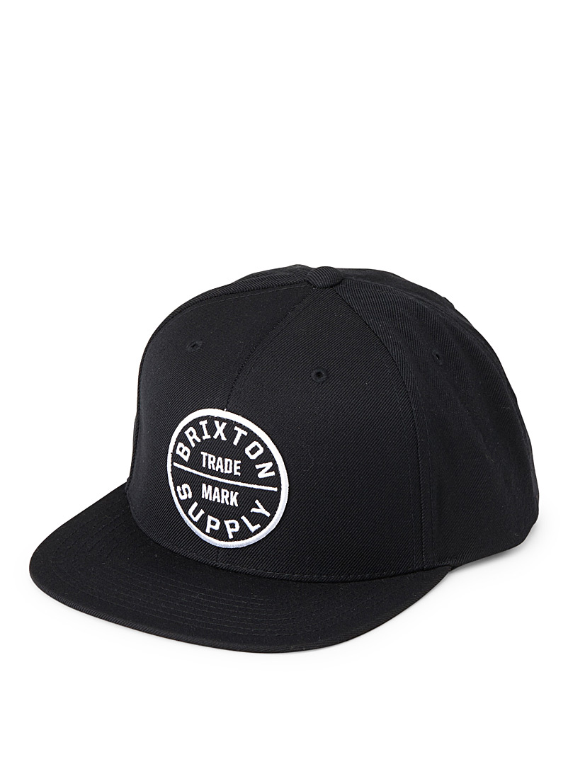 Brixton Light Grey Oath III logo cap for men