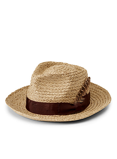 Accent feather Crosby fedora