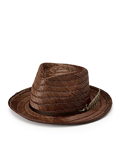 Crosby woven straw hat