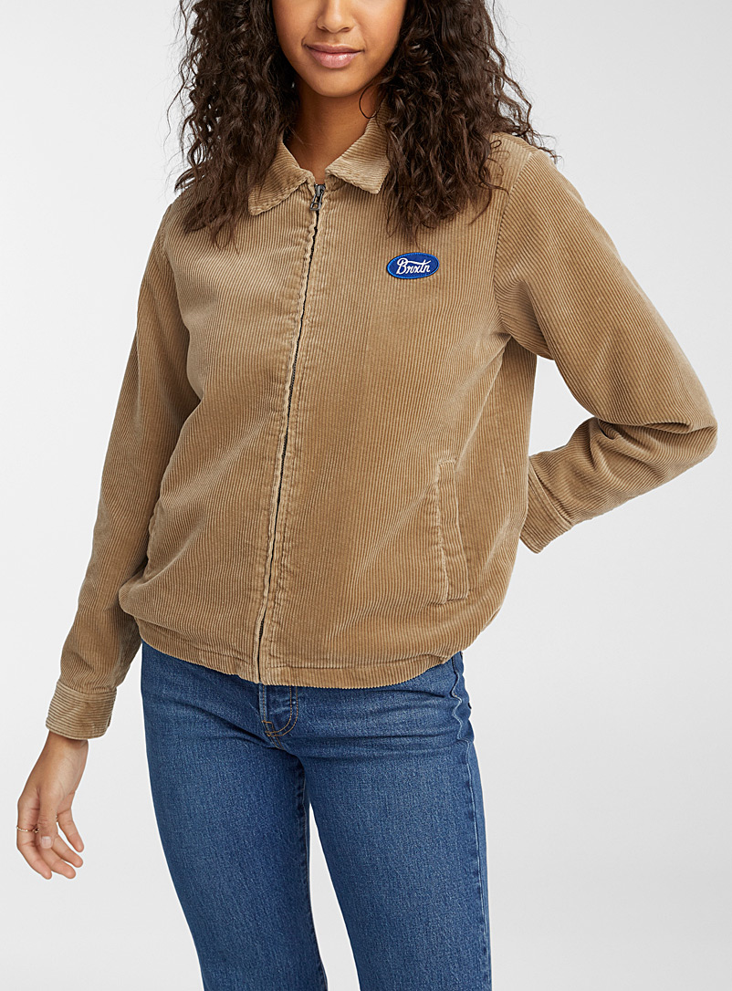 Brixton Sand Corduroy trucker jacket for women