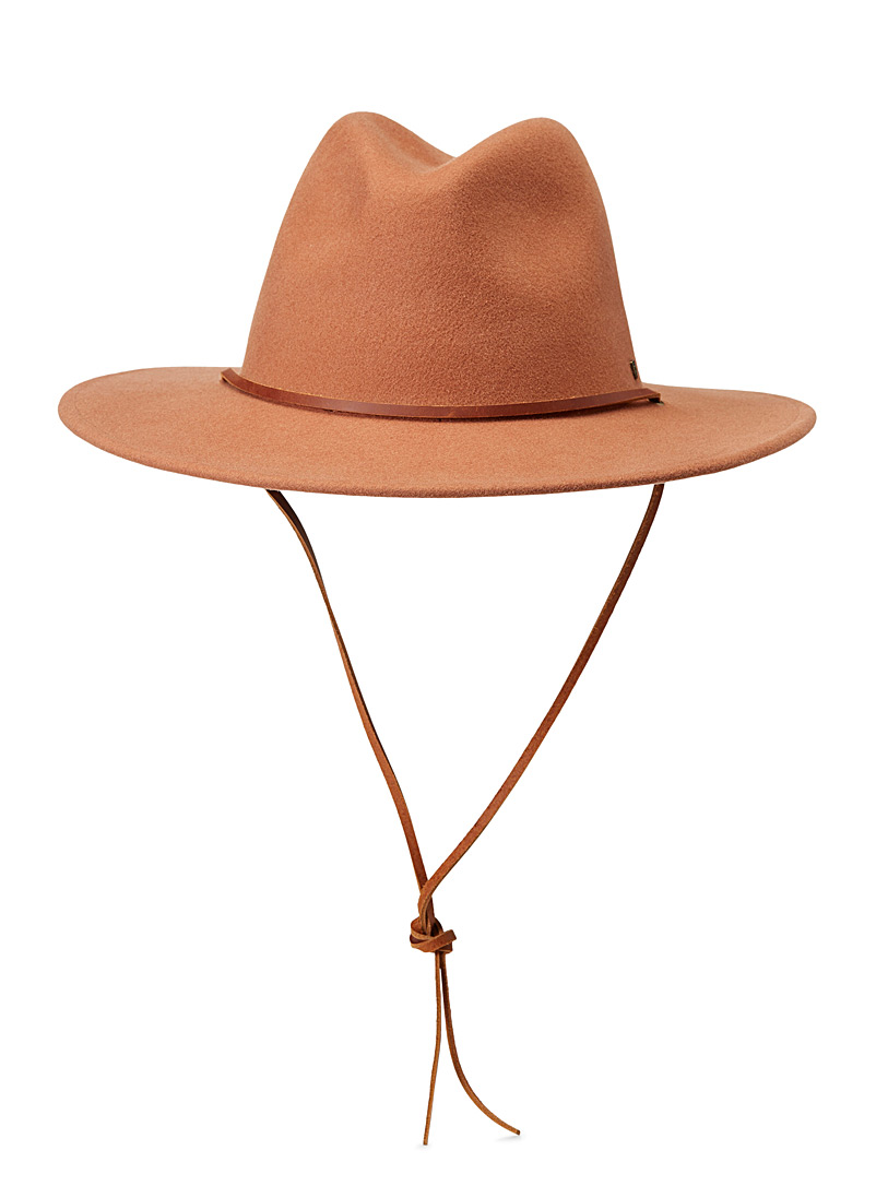 Brixton Medium Brown Field fedora for women