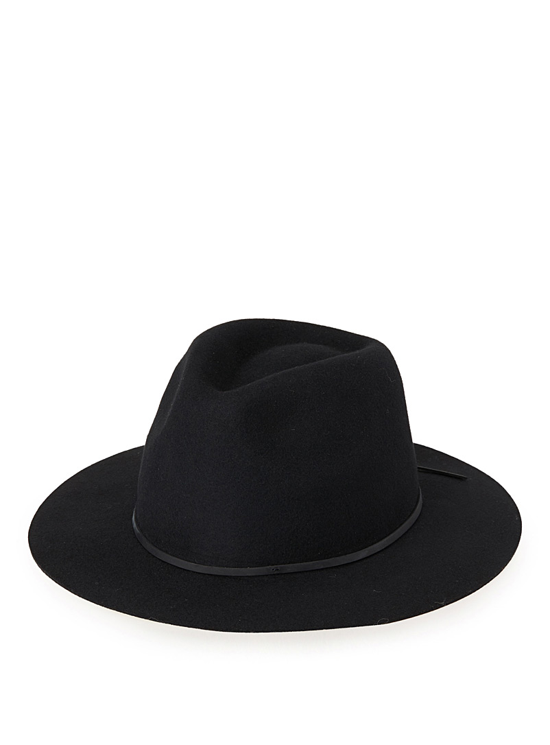 Brixton Black Wesley fedora for women