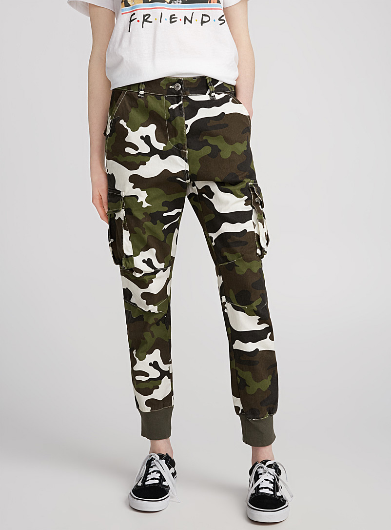 Cargo pant - Joggers - Patterned Green