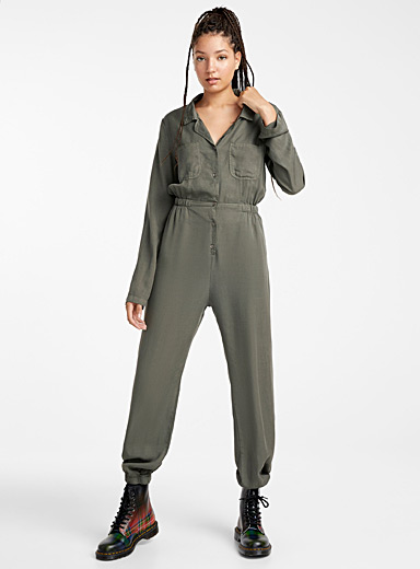 Fluid utility jumpsuit
