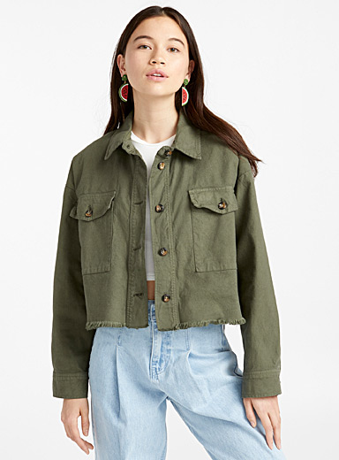 Frayed utility jacket