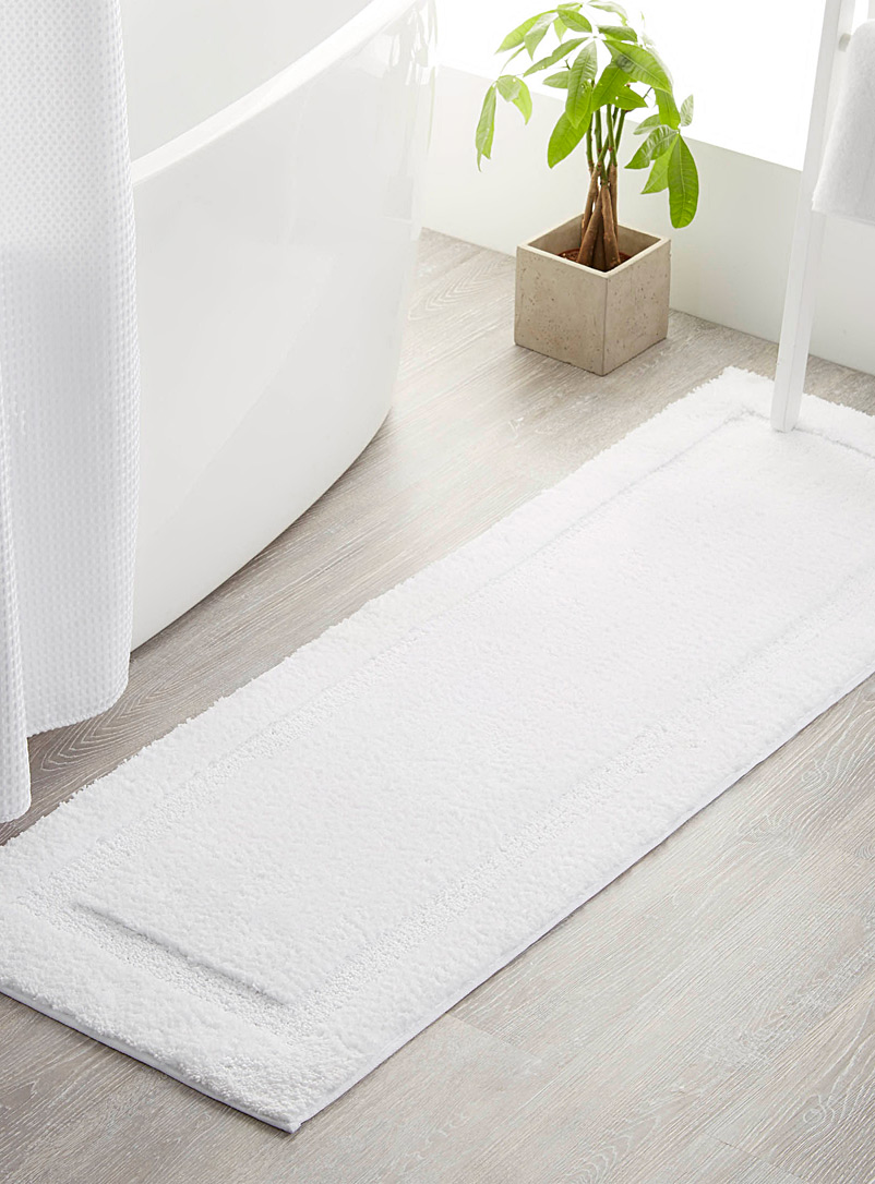 Simons Maison White Bordered double-sink mat  50 x 150 cm