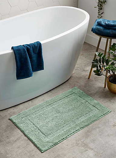 Simons Maison Bottle Green Plush bath mat  50 x 80 cm