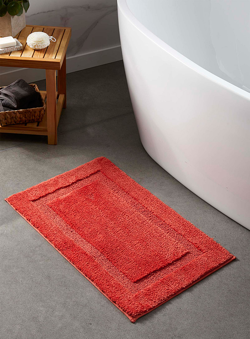 Simons Maison Dark Orange Plush bath mat  50 x 80 cm