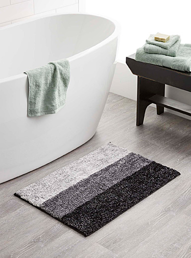 Charcoal grey bath mat <br>51 x 76 cm