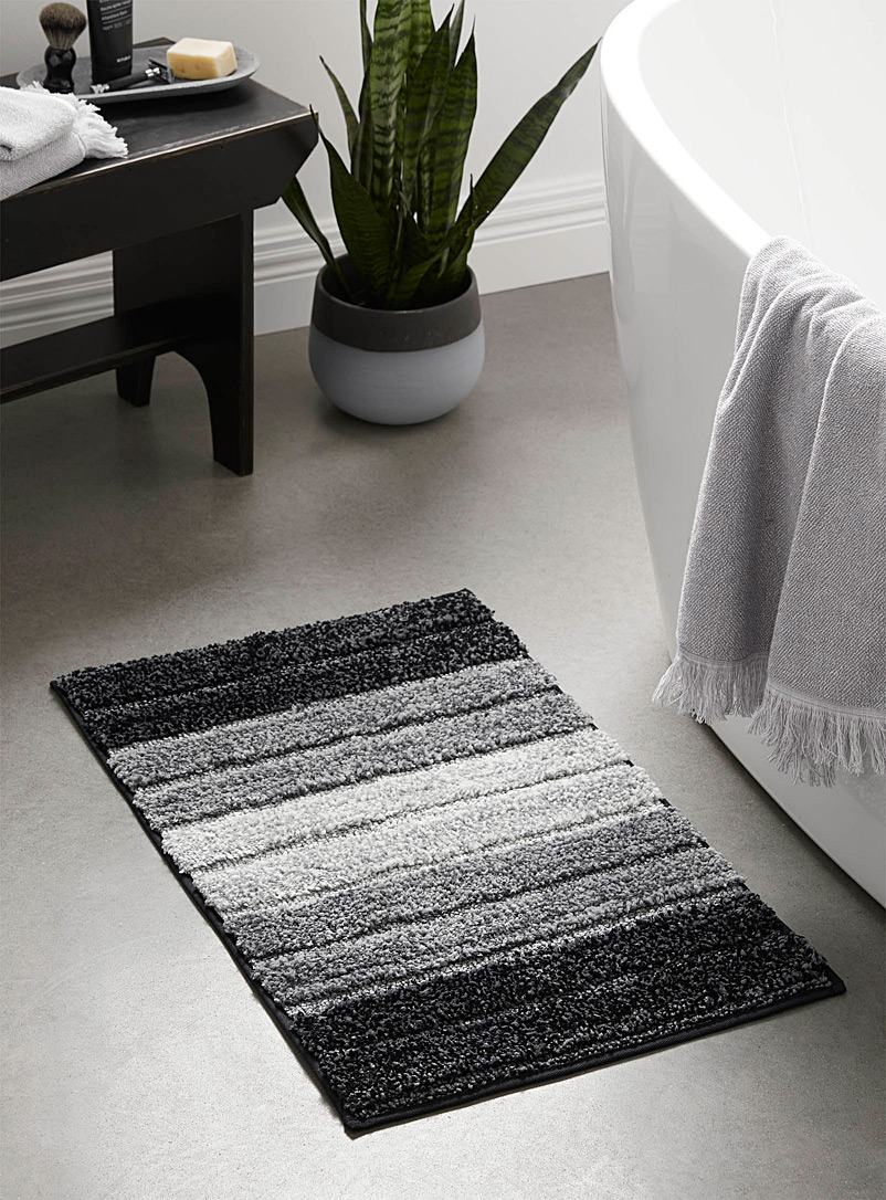 Simons Maison Patterned Grey Urban shade bath mat  50 x 80?cm