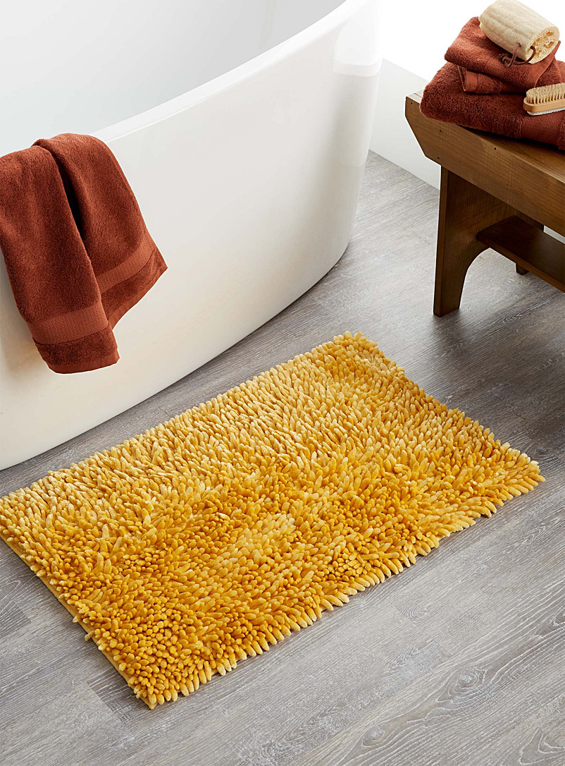 Simons Maison Medium Yellow Silky chenille bath mat  50 x 80 cm