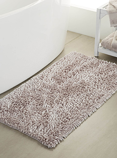 Simons Maison Light Grey Silky chenille bath mat  55 x 110 cm