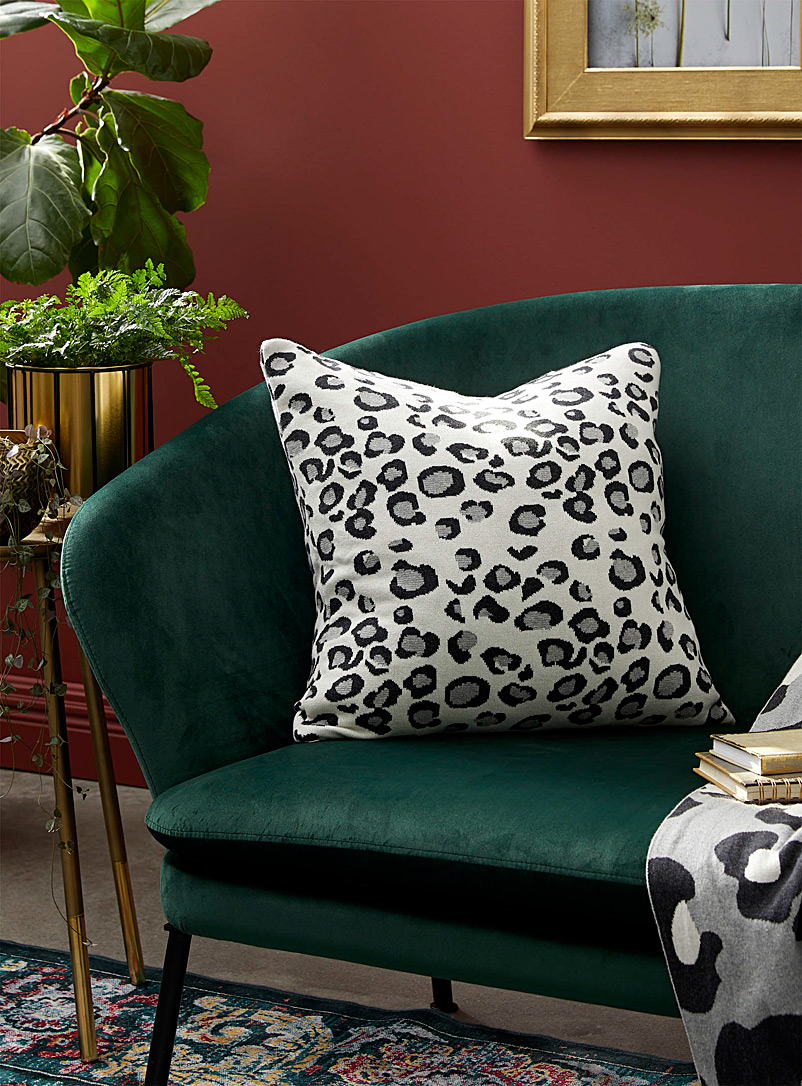 Simons Maison Assorted Snow leopard cushion  50 x 50 cm