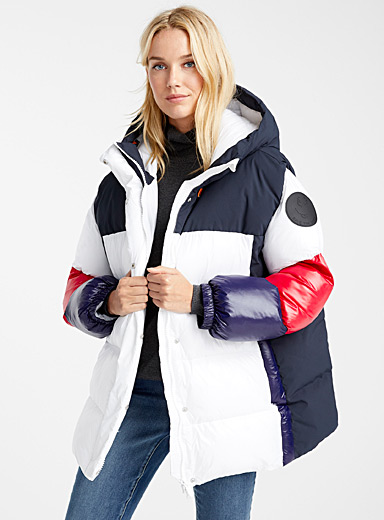 Tricolour quilted jacket