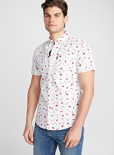 King of the grill shirt <br>Semi-tailored fit