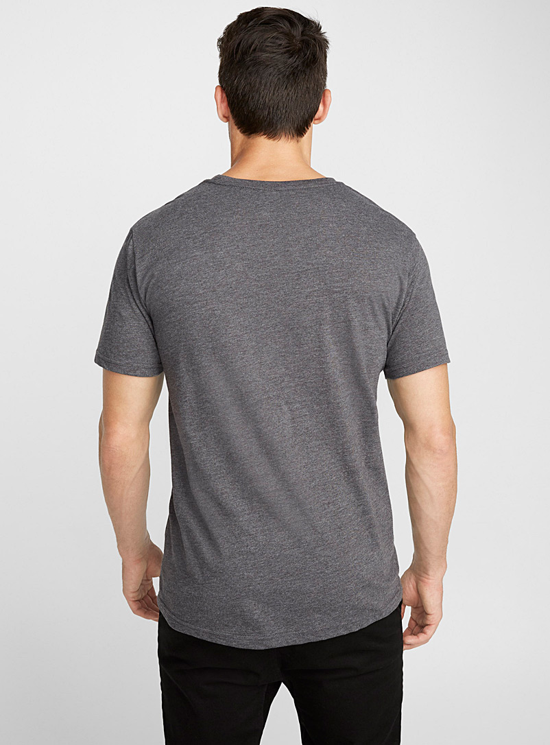 Poches & fils Charcoal Big Ten pocket T-shirt for men