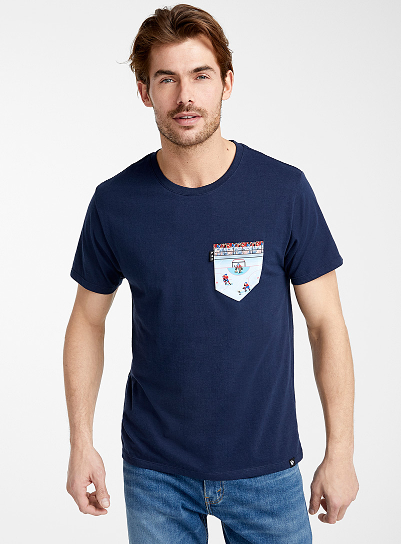 Hockey pocket T-shirt - Logo wear - Marine Blue