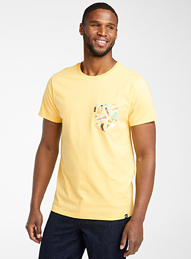 Poches & fils Golden Yellow Sunburn pocket T-shirt for men