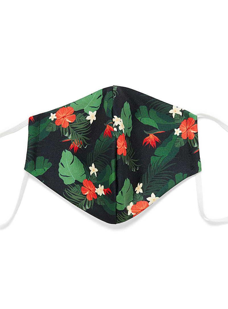 Poches & fils Patterned Green Flore is lava mask for men