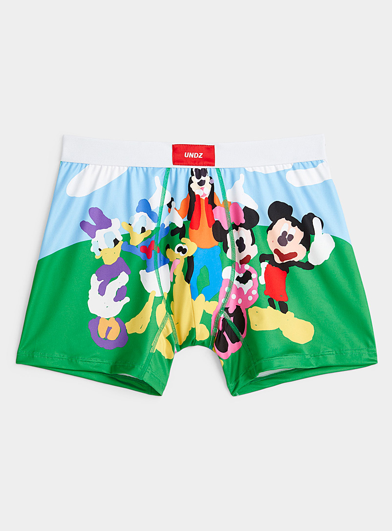 Undz Patterned Blue Mickey Mouse Clubhouse boxer brief for men