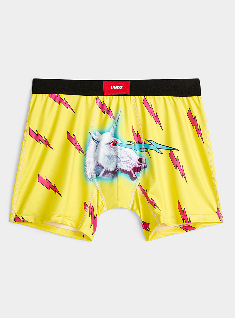 Undz Black Lightning unicorn boxer brief for men