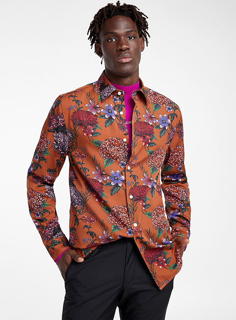 Rococo fluid shirt  Modern fit - Patterns - Assorted