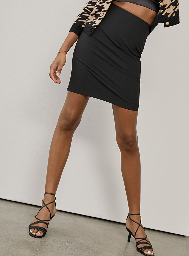 Ic?ne Black Recycled polyester suit skirt for women
